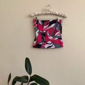 VTG 2000's Tube Top Pucci Inspired Print